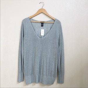 Lane Bryant silver top